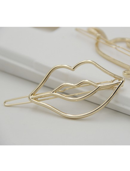 RAR1039W - Aksesoris Rambut Jepit Korean Lips Clip