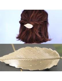 RAR1041 - Aksesoris Rambut Jepit Korean Gold Leaves Clip