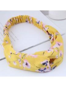 RAR1056 - Aksesoris Rambut Bando Headband Yellow Hibiscus