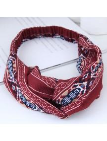 RAR1057 - Aksesoris Rambut Bando Headband Red Retro