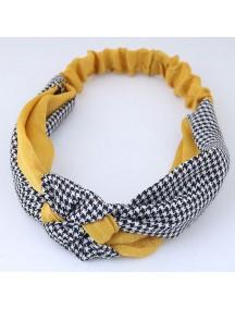 RAR1062 - Aksesoris Rambut Headband Yellow Platted