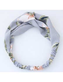 RAR1070 - Aksesoris Rambut Headband Grey Flower