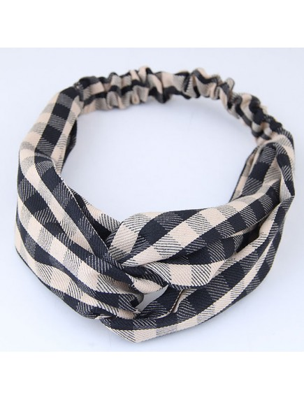 RAR1077 - Aksesoris Rambut Headband Plaid Stripped