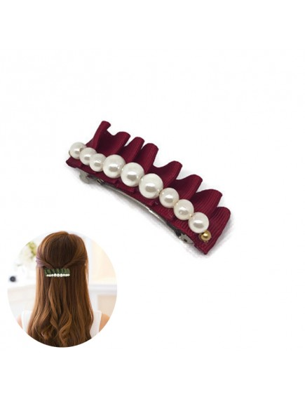 RAR1081W - Aksesoris Klip rambut Hair Clip Satin Pearl
