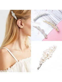 RAR1083W - Aksesoris Klip Rambut Mutiara Hair Clip Flower Pearl Korea