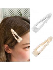 RAR1085W - Aksesoris Klip Rambut Mutiara Hair Clip Snap Pearl Korea