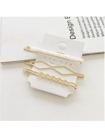 RAR1089 - Aksesoris Rambut Jepit Korea Pearl Hair Pin Sweet 4pc/set