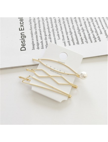 RAR1091 - Aksesoris Rambut Jepit Korea Pearl Hair Pin Sweet 3pc/set