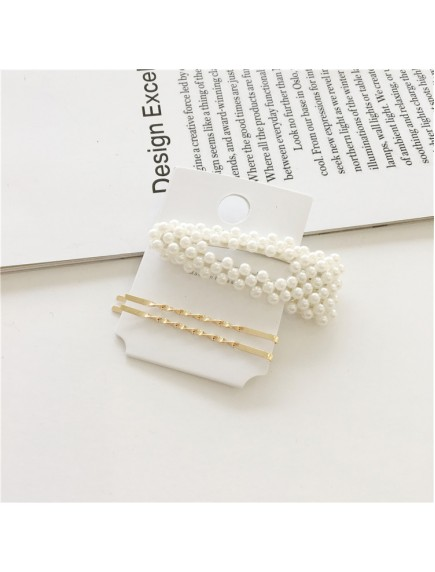 RAR1092 - Aksesoris Rambut Jepit Korea Pearl Hair Pin Sweet 3pc/set