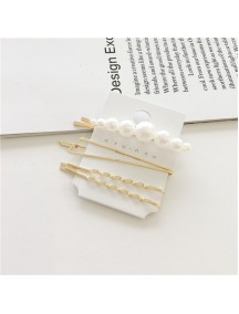 RAR1093 - Aksesoris Rambut Jepit Korea Pearl Hair Pin Sweet 4pc/set