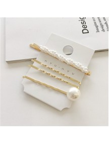 RAR1094 - Aksesoris Rambut Jepit Korea Pearl Hair Pin Sweet 4pc/set