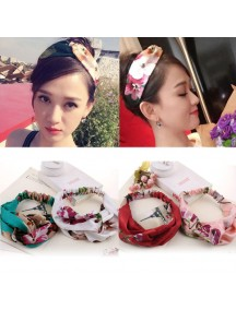 RAR1004W - Aksesoris Rambut Floral Hairband