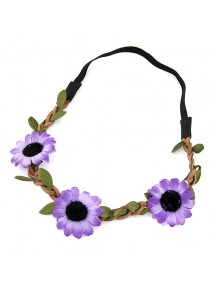 RAR2394 - Aksesoris Rambut  Leafy Flower Hair Band