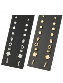 RAT1202W - Aksesoris Anting Mix Studs Element Earrings 9pc/set