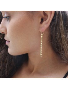 RAT1203 - Aksesoris Anting Gold Round Tassel Earring