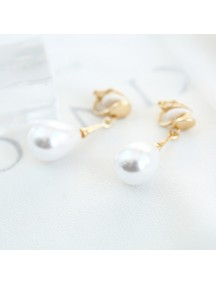 RAT1221 - Aksesoris Hijab Anting Jepit / Clip Water Pearl Earring