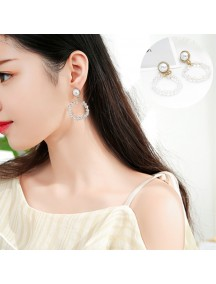 RAT1225 - Aksesoris Hijab Anting Jepit / Clip Rhinestone Glass Earring