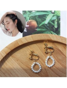 RAT1229 - Aksesoris Hijab Anting Jepit / Clip Sweet Pearl Earring