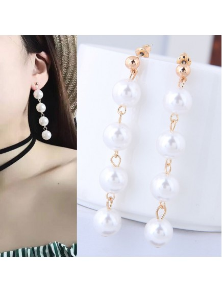 RAT1245 - Aksesoris Anting Gold Elegant Pearl