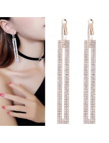 RAT1247W - Aksesoris Anting Vertical Strips Elegant