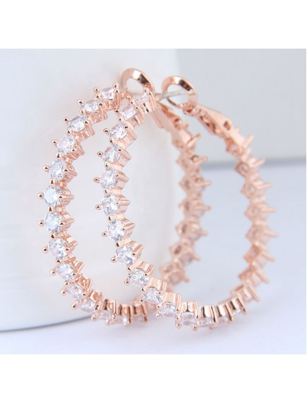 RAT1251W - Aksesoris Anting Hoop Zircon Elegant
