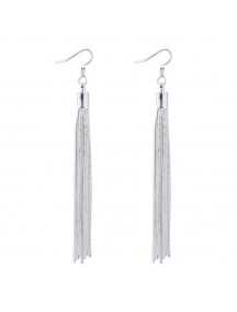 RAT1252 - Aksesoris Anting Silver Fringe Elegant