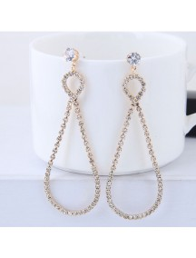 RAT1254W - Aksesoris Anting Rhinestone Drop Elegant