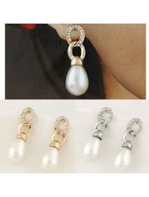 RAT1004W - Aksesoris Anting Simple Pearl
