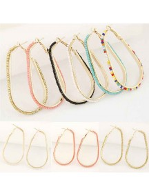 RAT1008W - Aksesoris Anting Long Beads Buckle