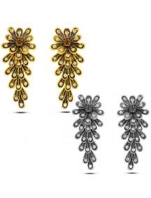 RAT1033W - Aksesoris Anting Metal Bright Gems