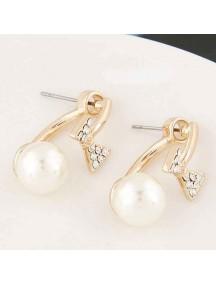 RAT1038 - Aksesoris Anting Bow Diamond Pearl