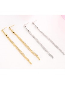 RAT1077W - Aksesoris Anting Fashion Long Tassel