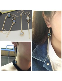 RAT1085W - Aksesoris Anting Long Beads Element Earring