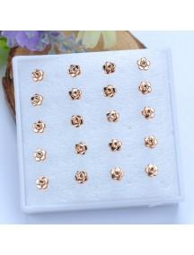 RAT1109 - Aksesoris Anting Gold Rose Earring Box