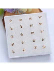 RAT1111 - Aksesoris Anting Gold Flower Earring Box