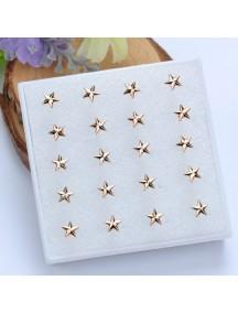 RAT1114 - Aksesoris Anting Gold Star Earring Box
