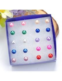 RAT1119 - Aksesoris Anting Mix Color Pearl Earring Box