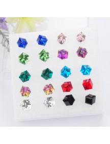 RAT1122W - Aksesoris Anting Crystal Color Earring Box