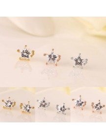 RAT1134W - Aksesoris Anting Zircon Sweet Star