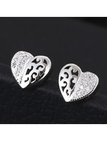 RAT1145 - Aksesoris Anting Combination Love Zircon
