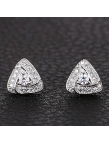 RAT1146 - Aksesoris Anting Silver Triangle