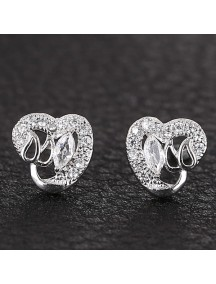 RAT1147 - Aksesoris Anting Silver Crystal