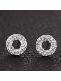 RAT1148 - Aksesoris Anting Silver Circle