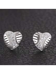 RAT1150 - Aksesoris Anting Silver Sweet Love