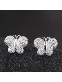 RAT1151 - Aksesoris Anting Silver Butterfly