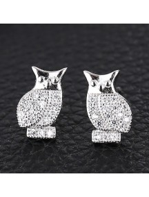 RAT1161 - Aksesoris Anting Silver Owl
