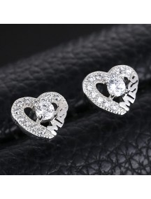 RAT1163 - Aksesoris Anting Silver Love Miss