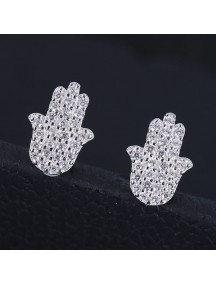 RAT1165 - Aksesoris Anting Silver Elegant Tulip