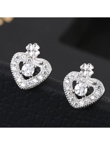RAT1166 - Aksesoris Anting Silver Love Luck