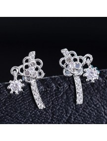 RAT1171 - Aksesoris Anting Silver Sweet Flower